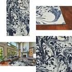 Watercolors Blue Marble 6 Ft. X 9 Ft. Area Rug