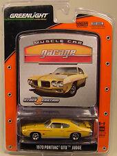 ORANGE 1970 PONTIAC GTO JUDGE GREENLIGHT 1:64 SCALE DIECAST METAL CAR