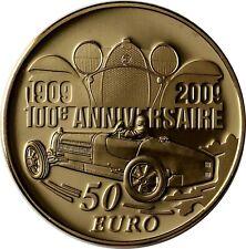 Frankreich 50 Euro 2009 Ettore Bugatti Goldmünze