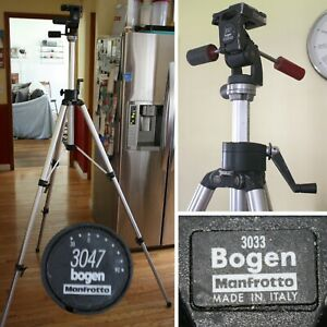 Bogen Manfrotto #3033 Professional TRIPOD with #3047 3-Way Head-Heavy Duty ITALY