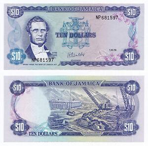 Jamaica, 10 Dollars 1979, Pick 67a, UNC