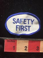 Patch SAFETY FIRST (wrinkly, needs ironed) 74LL