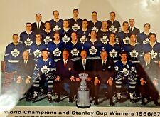 TORONTO MAPLE LEAFS STANLEY CUP CHAMPS 1966/67 TEAM PICTURE REPRODUCTION