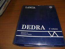 LANCIA DEDRA 2° SERIE MANUALE ASSISTENZA TECNICA / CATALOGO RIPARAZIONI