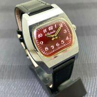 Soviet Watch RAKETA TV Shape Russian Wristwatch Vintage USSR 2609 HA SERVICED