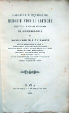 1850 MARINI, GALILEO E L'INQUISIZIONE – SANT'UFFIZIO PROCESSO ASTRONOMIA GALILEI