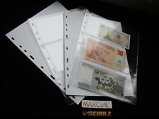 10 x Plastic Pages For SCHULZ BANKNOTE Albums British Collection M-3
