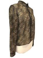 Blouse Shirt M&S Limited Edition Animal Print Sheer Boxy Top Size UK 12 VGC