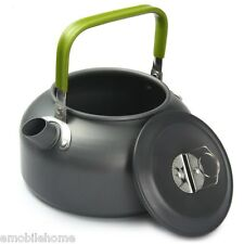 Aluminum 0.8L Portable Outdoor Coffee Pot Water Kettle Teapot with Mesh Bag