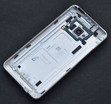 Silver Housing Back Battery Door Cover Case Camera Lens For HTC One 810s M7