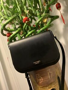 Kate Spade Nadine Black Medium Flap Shoulder/ Crossbody / Saddle Bag MSRP $279