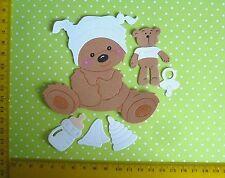 Scrapbooking  Kartenaufleger  Sticker Baby Geburt 3