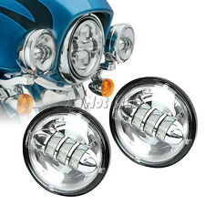 """Motorcycle 4.5"""" Chrome LED Auxiliary Passing Lights Lamps for Harley Davidson"""