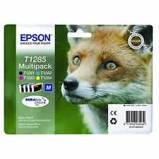 MULTIPACK ORIGINALE EPSON T1285 C13T12854010 4 cartucce 4INK Blister (Volpe)