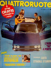 Quattroruote 209 1973 Spider 128 giudicata da Fittipaldi. L'Audi 80 4 porte Q98]