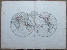 MALTE-BRUN: World Map - w326 - 1812