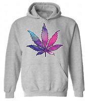 Marijuana Leaf Galaxy HOODIE Sweatshirt Sweater Hooded Cannabis Weed Kush Smoke
