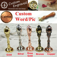 Custom Made Your Design Logo Wedding Invitations Card Wax Seal Stamp+1 Wax Stick