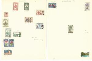 Cambodia Collection 1951-1970, 4 Pages, Neatly Identified
