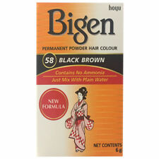 Bigen 58 Black Brown Permanent Powder Hair Colour 6g Box | No Ammonia, Free Post