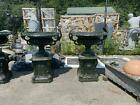 GREAT VICTORIAN STYLE ESTATE CAST IRON URNS - RS1779B