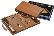 36,5 X 23 X 5 cm Go and Gobang Koffer Holz rotbraun mit Spielsteinen Bang  Neu