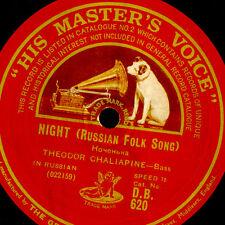 THEODOR CHALIAPINE -RUSSIAN BASS- Night / Dubinoushka  (Russian Folk Song) G3392