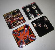 Kiss Rock Group Album Cover Coaster Set