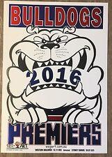 2016 Weg Art Bulldogs Foil Premiership Poster