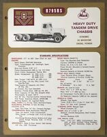 1972 Mack R795RS original Australian sales brochure
