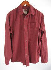 Wrangler Jeans Co Rockabilly Red Plaid L/S Cotton Cowboy Western Shirt Size L