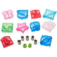 VonShef 15 Piece Sandwich & Vegetable Cutter Set Novelty Plastic Cookie Cutters