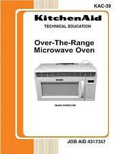 Repair Manual: KitchenAid Microwave Oven (Your choice of 1 manual, models below)