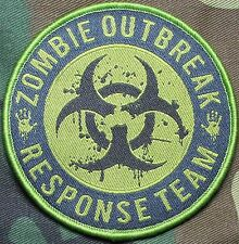 ZOMBIE HUNTER OUTBREAK RESPONSE TEAM TACTICAL BIOHAZARD OD GREEN VELCRO PATCH
