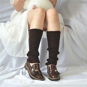 2 Pairs Punk Knit Long Socks Women Elastic Leg Warmers Warm Hip-hop Rock Socks