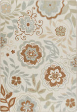 "2x4 Milliken Garden Passage Ivory Modern Floral Area Rug - Approx 2'8""x3'10"""