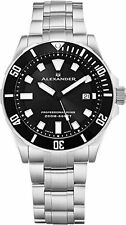 Alexander A501B-01 Professional Diver Mens Quartz Stainless Steel Watch