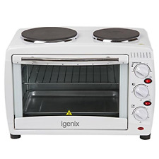 Igenix IG7126 Mini Oven and Grill with Double Hotplate 26L 1500W-White