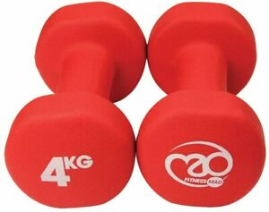 Fitness Mad Neo Dumbbells (Pack of 2), Red, 4Kg