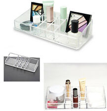 Acrylic COSMETIC ORGANISER -9 Lipsticks & 2 Large Compartments -11 Compartments