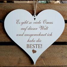 Schild Herz « BESTE OMA » mit Spruch Geschenk Frauentag Geburtstag Weihnachten