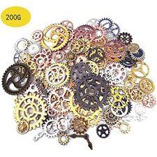 200 Gram Antique Metal Steampunk Gears Charms Diy Pendant Clock Watch Wheel Cog