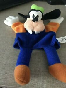 "7.5"" Disney Mcdonalds 2001 Goofy Mickey Plush Hand Puppet new in bag"