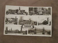 1940s real photographic postcard -  London multiview