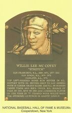 Postcard Willie McCovey San Francisco Giants Baseball HOF Cooperstown MINT