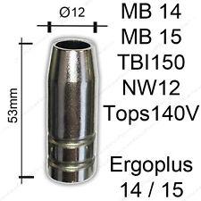 Gasdüse MB14 MB15 NW12 MIG/MAG Brenner Gasdüsen Konisch SB MB 14/15 TBI Nozzle