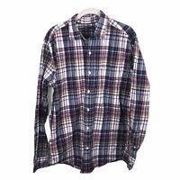 Gap Men's Size Large Plaid Long Sleeve Button Down Shirt Tartan Multicolor
