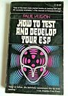 How To Test And Develop Your ESP By Paul Huson Vtg 1976 Paperback - Easy To Use