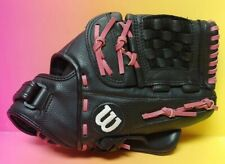 """Wilson A0600 FP125 12.5"""" Black With Pink Baseball Glove Mitt Right Handed Throw"""