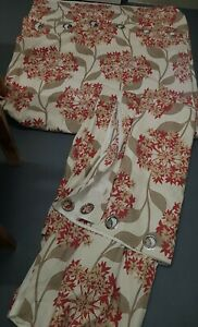 Dunelm Fabulous LINED EYELET FLORAL CURTAINS SIZE 90in Width X 90in Drop,
